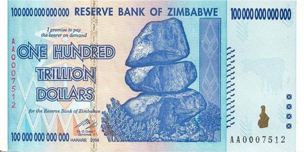 Reserve Bank of Zimbabwe - One Hundred Trillion Dollars