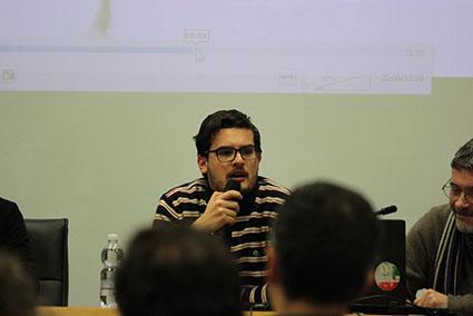 Ivan Invernizzi durante il dibattito