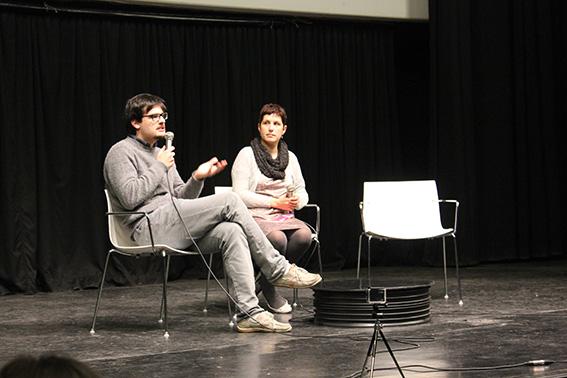 Ivan Invernizzi e Deanna Pala durante il dibattito post-proiezione