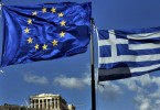 The European and the Greek flags fly above the ancient temple of Parthenon atop the Acropolis hill in Athens on May 10, 2011. Experts from the European Union, International Monetary Fund and European Central Bank (ECB) began on May 10 an audit of finances and reforms in Greece to determine if it merits a critical new slice of funding from a bailout package agreed last year.  AFP PHOTO / ARIS MESSINIS (Photo credit should read ARIS MESSINIS/AFP/Getty Images)