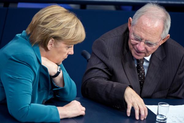 Schauble e Merkel