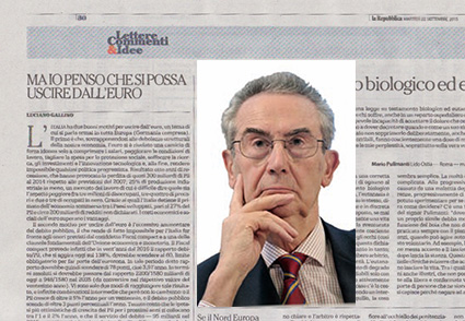 Luciano Gallino su Repubblica del 22 settembre 2015