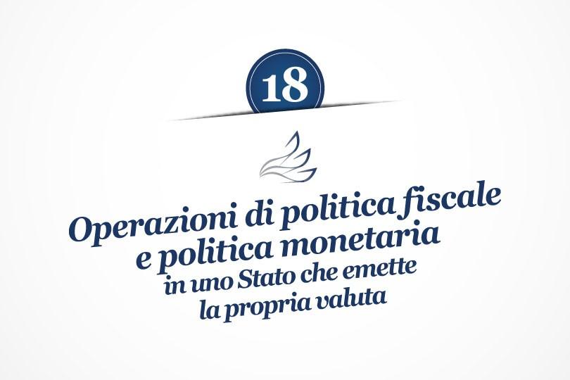 MMP Blog #18: Operazioni di politica fiscale e politica monetaria in uno Stato che emette la propria valuta