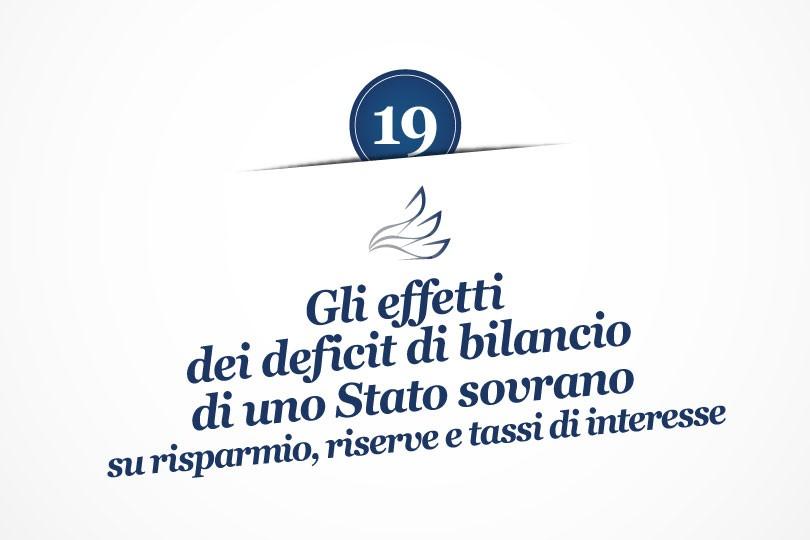MMP Blog #19: Gli effetti dei deficit di bilancio di uno Stato sovrano su risparmio, riserve e tassi di interesse