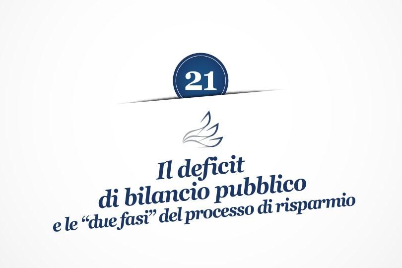 """MMP Blog #21: Il deficit di bilancio pubblico e le """"due fasi"""" del processo di risparmio"""