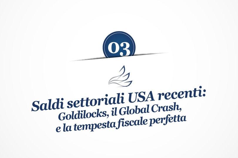 MMP Blog #3: Saldi settoriali USA recenti: Goldilocks, il Global Crash, e la tempesta fiscale perfetta
