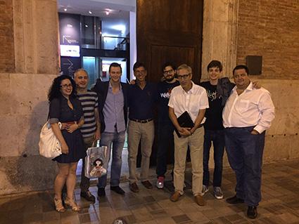 Warren Mosler a Vila-real con alcuni attivisti