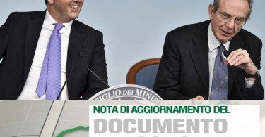 Renzi, Padoan e la nota di aggiornamento al DEF 2015