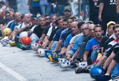 Manifestazione operai Alcoa