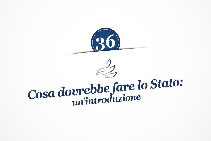 MMP Blog #36: Cosa dovrebbe fare lo Stato: un'introduzione