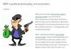 La MMT è filosofia politica, non economia