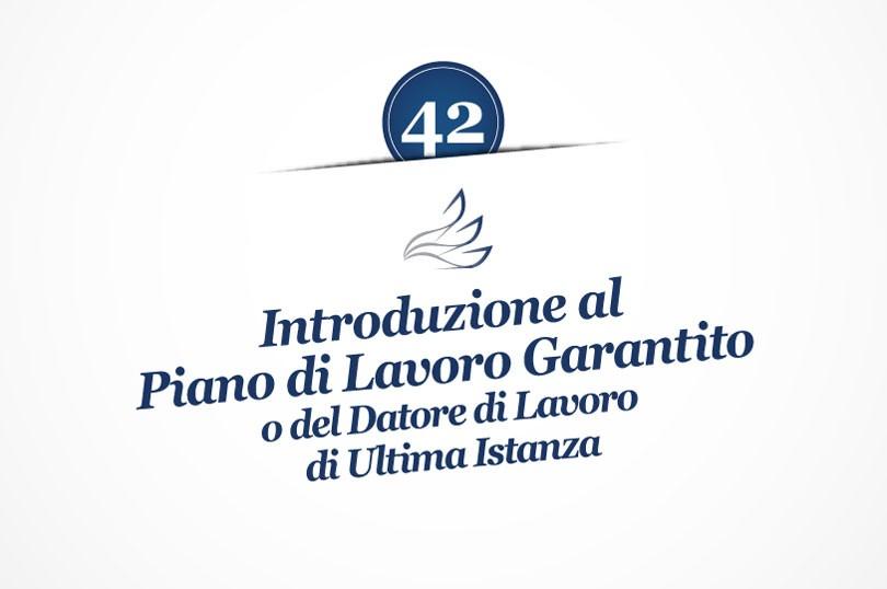MMP Blog #42: Introduzione al Piano di Lavoro Garantito o del Datore di Lavoro di Ultima Istanza