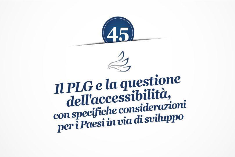 MMP Blog #45: Il PLG e la questione dell'accessibilità, con specifiche considerazioni per i Paesi in via di sviluppo
