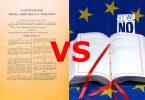 Costituzione e Trattati europei: il suicidio nei giorni di follia