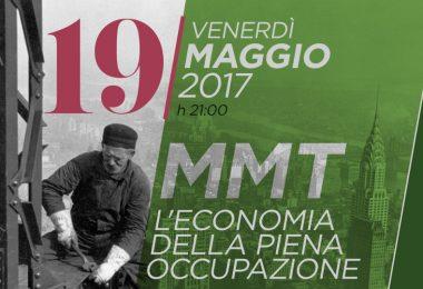 """""""MMT: l'economia della piena occupazione"""" venerdì a Chiaverano (TO)"""