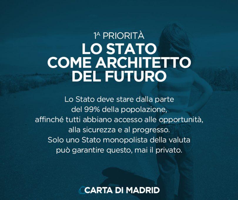 La Carta di Madrid: LO STATO COME ARCHITETTO DEL FUTURO