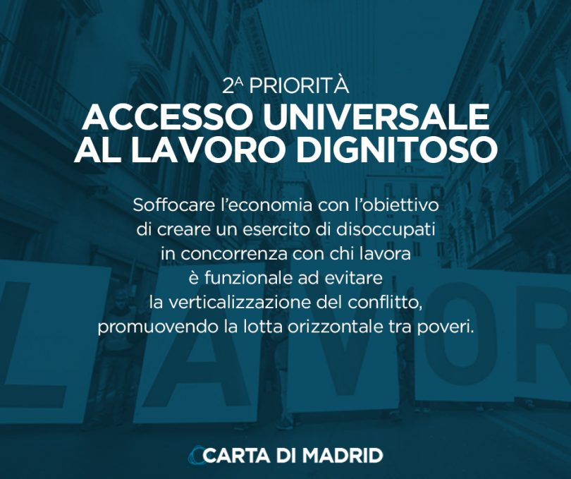 La Carta di Madrid: L'accesso universale al lavoro dignitoso