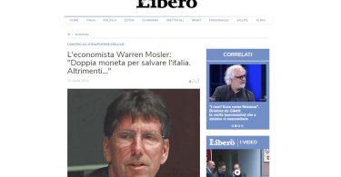 """L'economista Warren Mosler: """"Doppia moneta per salvare l'italia. Altrimenti..."""""""