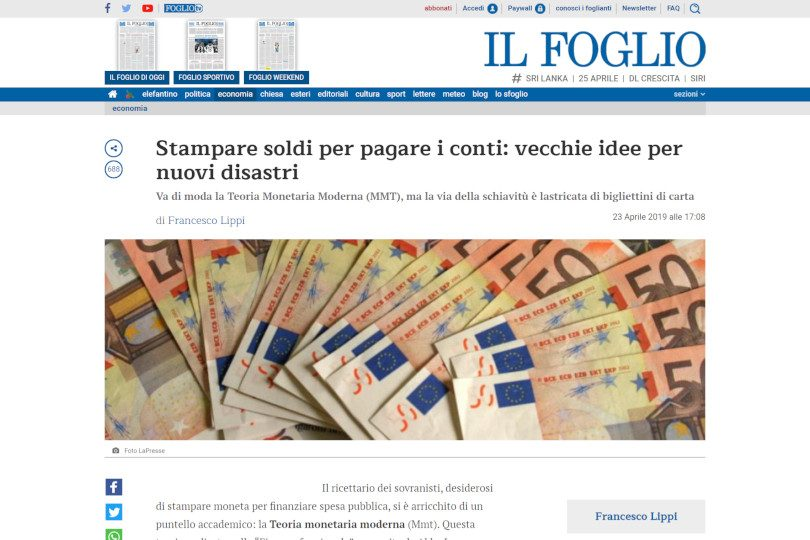 Stampare soldi per pagare i conti: vecchie idee per nuovi disastri