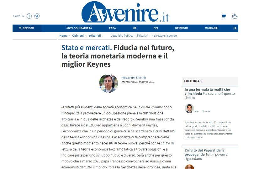Fiducia nel futuro, la teoria monetaria moderna e il miglior Keynes