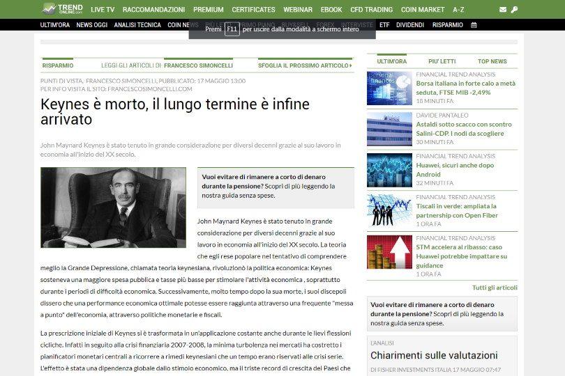 Keynes è morto, il lungo termine è infine arrivato