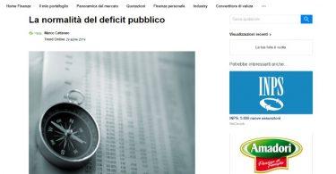 La normalità del deficit pubblico