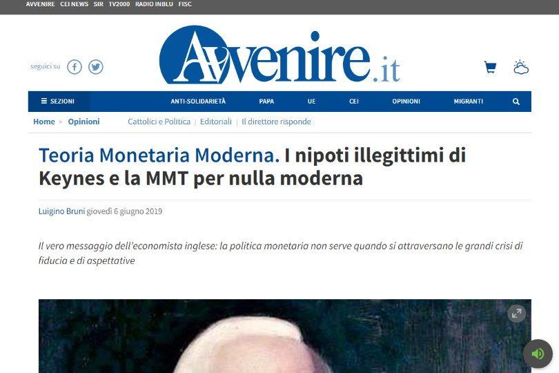 I nipoti illegittimi di Keynes e la MMT per nulla moderna