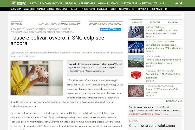 Tasse e bolivar, ovvero: il SNC colpisce ancora
