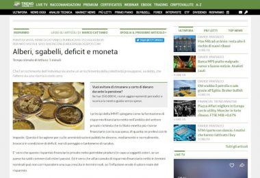 Alberi, sgabelli, deficit e moneta