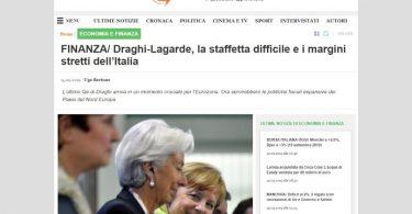 Draghi-Lagarde, la staffetta difficile e i margini stretti dell'Italia