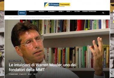 Le intuizioni di Warren Mosler, uno dei fondatori della MMT
