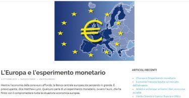 L'Europa e l'esperimento monetario