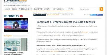 Commiato di Draghi: corretto ma sulla difensiva