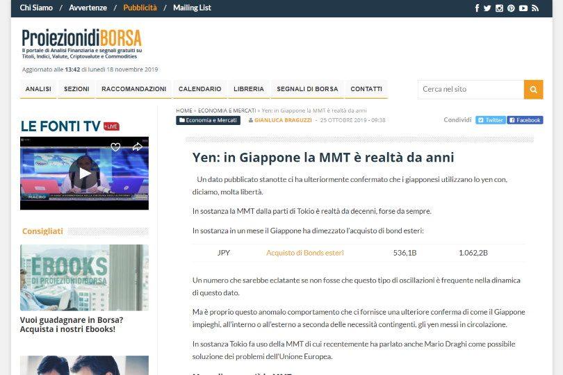 Yen: in Giappone la MMT è realtà da anni