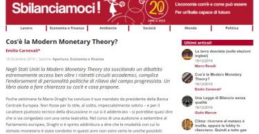 Cos'è la Modern Monetary Theory?