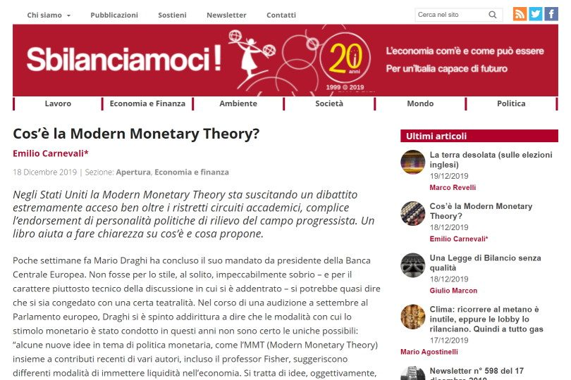 Cos'è la Modern Monetary Theory?