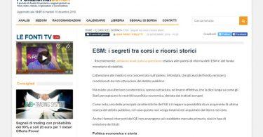 ESM: i segreti tra corsi e ricorsi storici