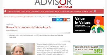 Hermes IM, la nuova era di Christine Lagarde