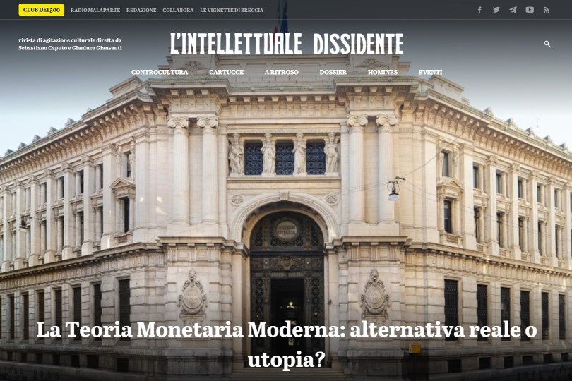 La Teoria Monetaria Moderna: alternativa tale o utopia?