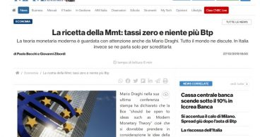 La ricetta della Mmt: tassi zero e niente più Btp