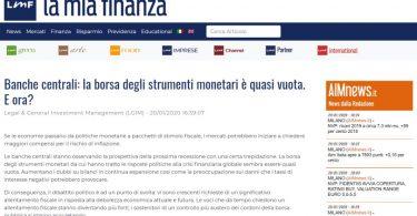 Banche centrali: la borsa degli strumenti monetari è quasi vuota. E ora?