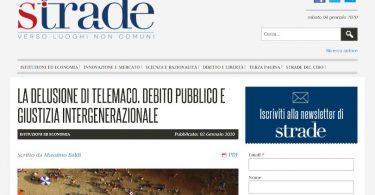 La delusione di Telemaco. Debito pubblico e giustizia intergenerazionale