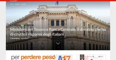 Ministero del Tesoro e Banca Centrale: il divorzio che ha distrutto i risparmi degli italiani