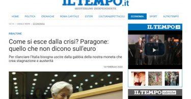 Come si esce dalla crisi? Paragone: quello che non dicono sull'euro