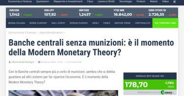 Banche centrali senza munizioni: è il momento della Modern Monetary Theory?