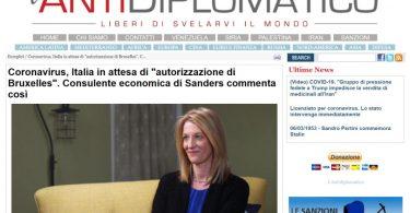"""Coronavirus, Italia in attesa di """"autorizzazione di Bruxelles"""". Consulente economica di Sanders commenta così"""