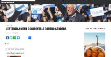 L'establishment occidentale contro Sanders