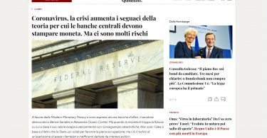 Coronavirus, la crisi aumenta i seguaci della teoria per cui le banche centrali devono stampare moneta. Ma ci sono molti rischi