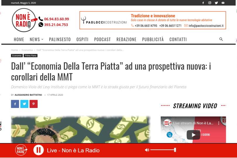 """Dall' """"Economia Della Terra Piatta"""" ad una prospettiva nuova: i corollari della MMT"""