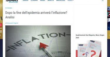 Dopo la fine dell'epidemia arriverà l'inflazione? Analisi
